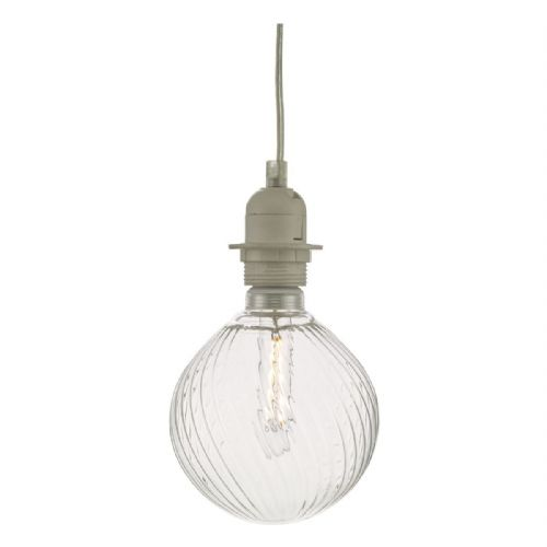 Clear Ribbed Glass LED Dimmable Pendant Kit ACDL7